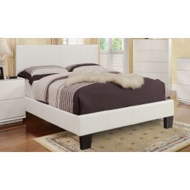Oliver Faux Leather Platform Bed