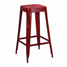 Arlette Bar Stool Red - Iron