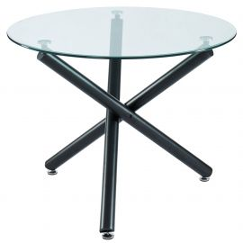 """Madeline Dining Table, 40""""Dia - Black"""