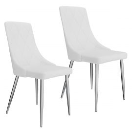 Digby Side Chair In White - Set Of 2