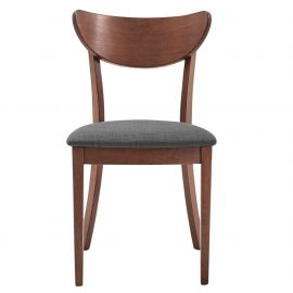 Faith Side Chair - Walnut/Grey
