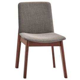 Maxwell Side Chair - Walnut/Grey