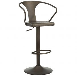 Alyssa Adjustable Stool - Gunmetal