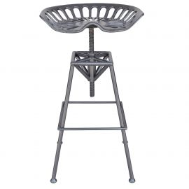 Maya Adjustable Stool - Gunmetal