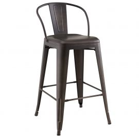"Matteo 26"" Counter Stool - Gunmetal"