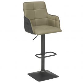 Matthew Air Lift Stool - Taupe/Grey
