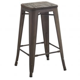 "Holden 26"" Counter Stool - Gunmetal"