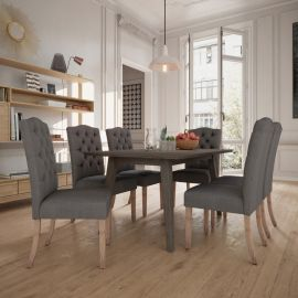 Agnes Lacey 7 Pcs. Dining Set In Grey