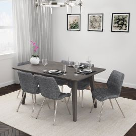 Alexis/Ava 7Pc Dining Set - Ava Grey