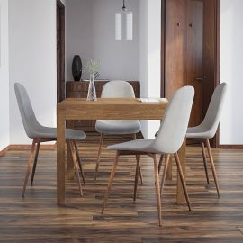Angel/Gemma 5Pc Dining Set - Walnut Table/Grey Chair