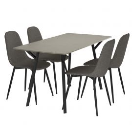 Graham 5Pc Dining Set - Grey