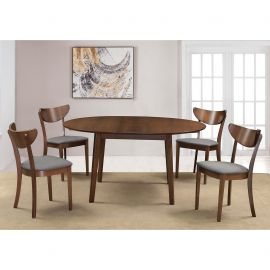 Adelaide/Faith Round Faith Gy - 5Pc Dining Set - Grey
