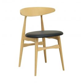 Telyn Dining Chair - Natural & Espresso