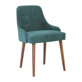 Bella Dining Chair - Nile Green & Cocoa