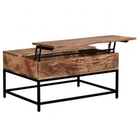 Jaden Lift Top Coffee Table - Natural Burnt