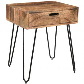 Elizabeth Accent Table - Natural Burnt