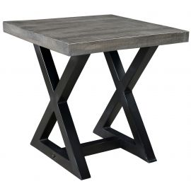 Phoebe Accent Table - Distressed Grey