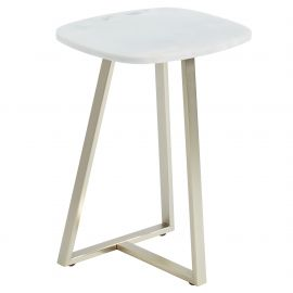 Brooks Accent Table - White