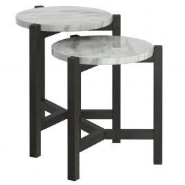 Jose Set Of 2 Accent Table - Grey