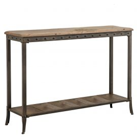 Melanie Rectangular Console Table - Distressed Pine