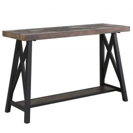 Evelyn Console Table - Rustic Oak