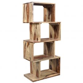 Elise - Shelving Unit - Dark Sheesham