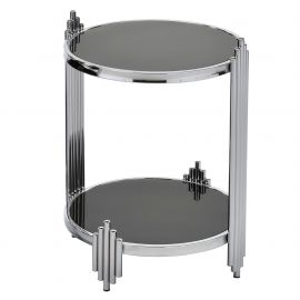 Miles End Table - Chrome/Black