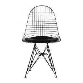 DKR Eiffel Black Wire Chair - Reproduction - Black