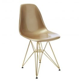 DSR Eiffel - Gold Seat with Gold Metal Legs - Reproduction