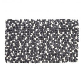 Aitana - Handmade Wool Felt Pebble Rug - Grey - 5 x 7 ft