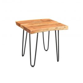 Colton Live Dakari Solid Acacia Side Table with Hairpin Legs