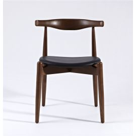 CH20 Elbow Chair - Walnut & Black - Round Seat - Reproduction