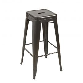 Arlette Counter Stool 66cm - Gunmetal