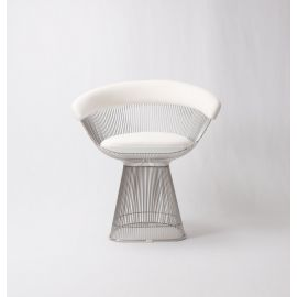 Ralph Wire Dining Chair - Upholstered in Cashmere Wool - Reproduction - White