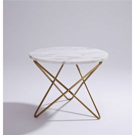 Jayden Marble Coffee/Side Table - White