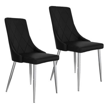Digby Side Chair In Black - Set Of 2