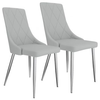 Digby Side Chair In Light Grey - Set Of 2
