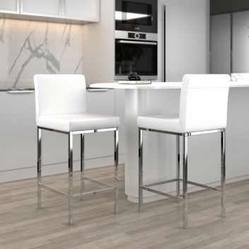 Patrick 26 Inch Counter Stool White - Set Of 2