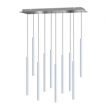 Canalis 10 Light White Pendant - Small Canopy