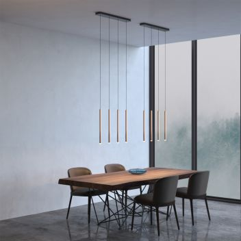 Canalis 4 Light Copper Pendant - Rectangle Canopy