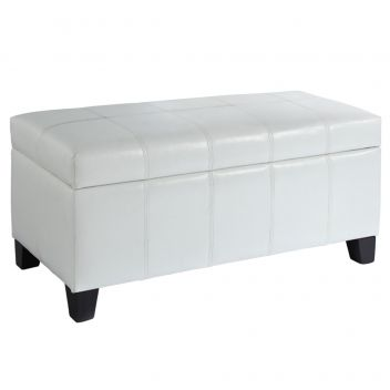 Andrew Faux Leather Storage Ottoman