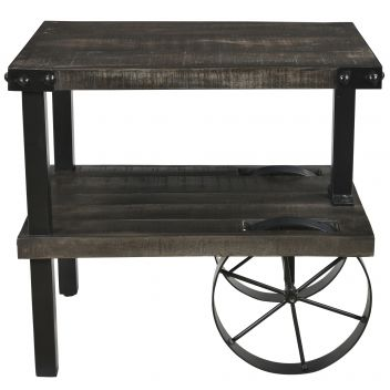 Paige Accent Table - Distressed Grey