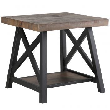 Evelyn Accent Table - Rustic Oak