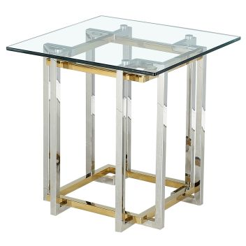 FRANCESCA-ACCENT TABLE-SILVER/GOLD