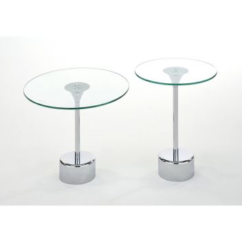 Tomos 2 Pcs. Accent Table Set In Chrome
