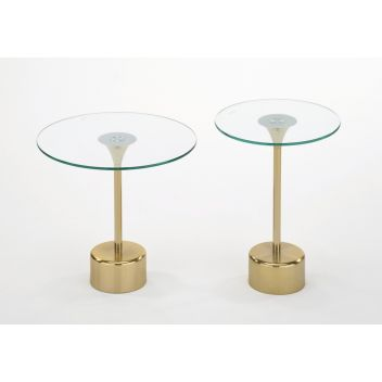 Tomos 2 Pcs. Accent Table Set In Gold