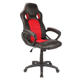 AARON-OFFICE CHAIR-RED/BLACK