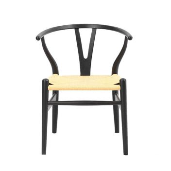 Robert Chair CH24 Y Chair - Black/Orange/Pink/Yellow/Red - Reproduction - Natural Cord
