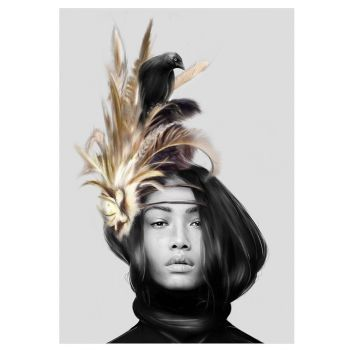 Carter and Feathers Print - 61 x 91cm