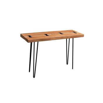 Colton Solid Acacia Console Table with Hairpin Legs